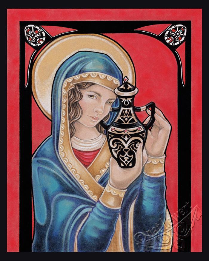 Saint Mary Magdalene Icon by natamon