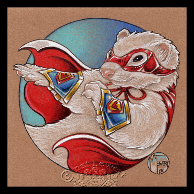 Superhero Ferret by natamon