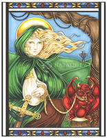 St. Dymphna Icon by natamon