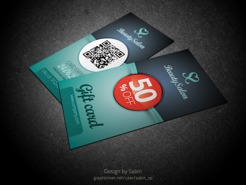 Gift / Voucher Card Template by valentinpl on DeviantArt