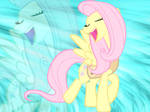 Singing Fluttershy wallpaper