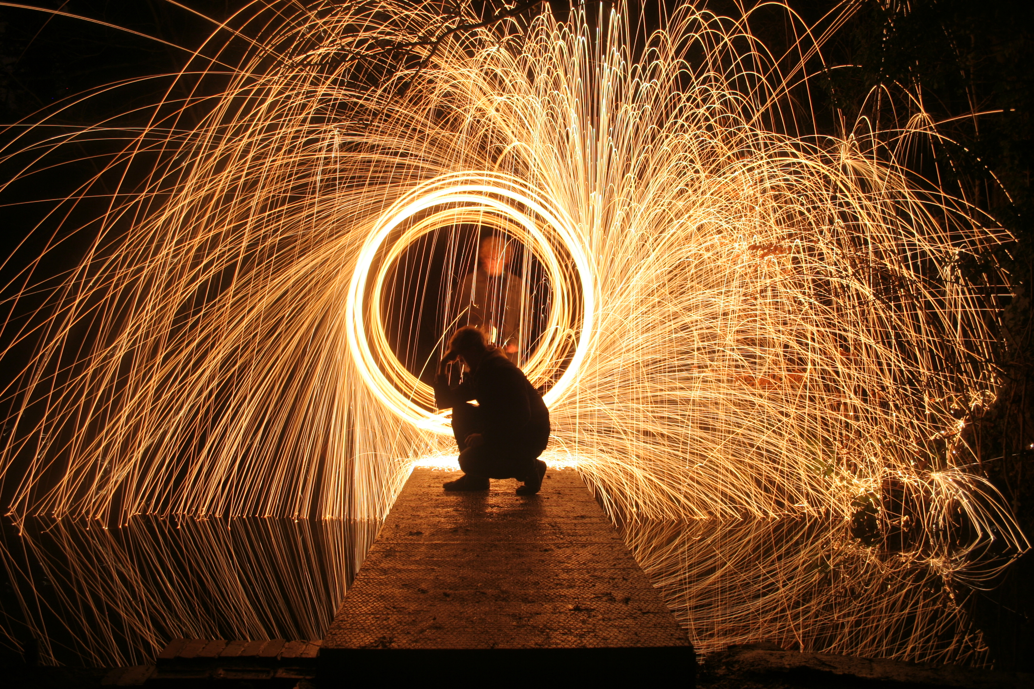Steel Wool Photography Shoot with Graffiti Background