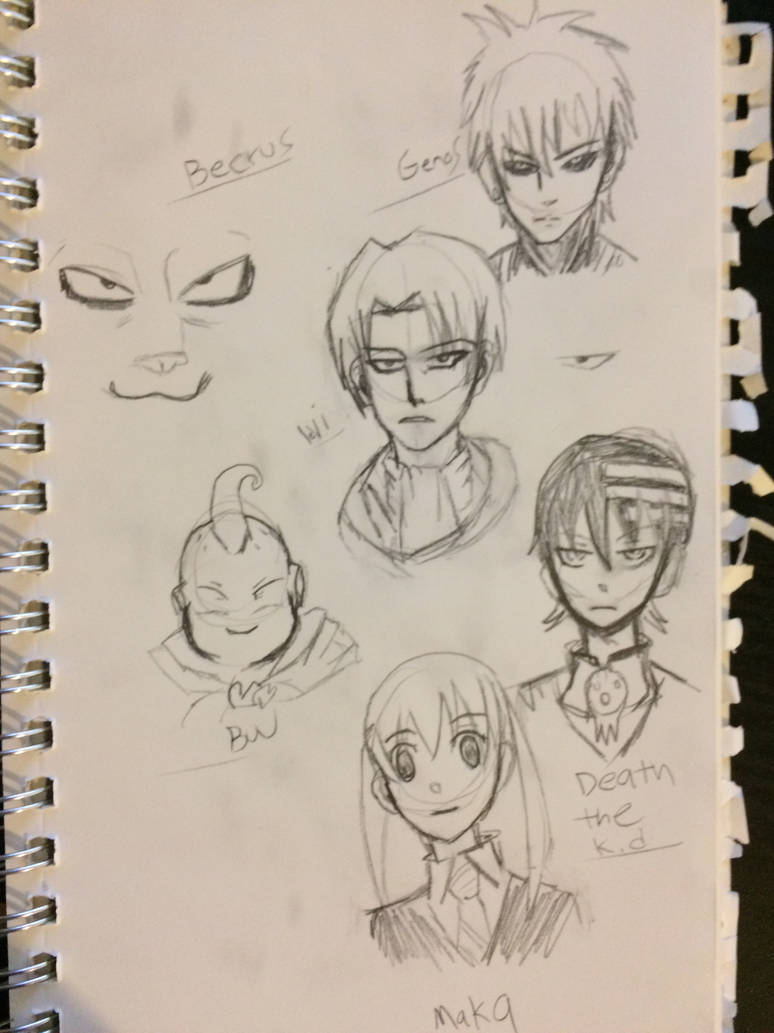 Anime sketches by charizardnumber6