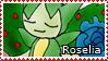 PKMN-Roselia Stamp by rosa-pegasus