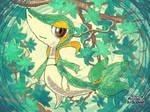 Pokemon Art Academy-Snivy
