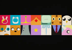 Adventuretime Icons / Wallpaper by Graacee