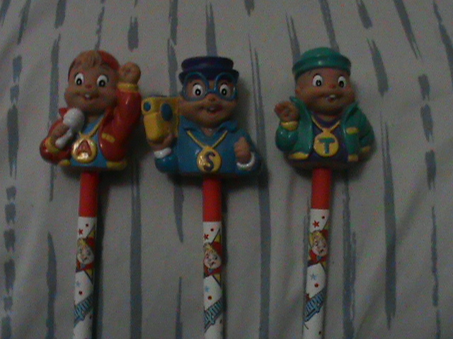 Chipmunk Pencil Toppers! by TheodoreSeville85