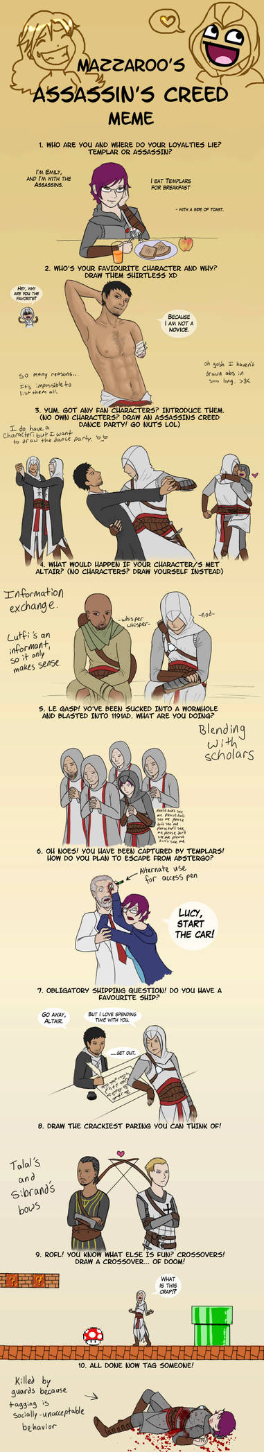 Assassin's Creed Meme by Arithusa