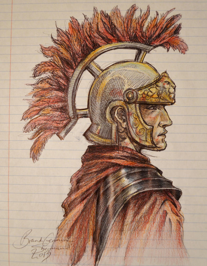 Roman Soldier Sketch by BrandiShermanGermana on DeviantArt