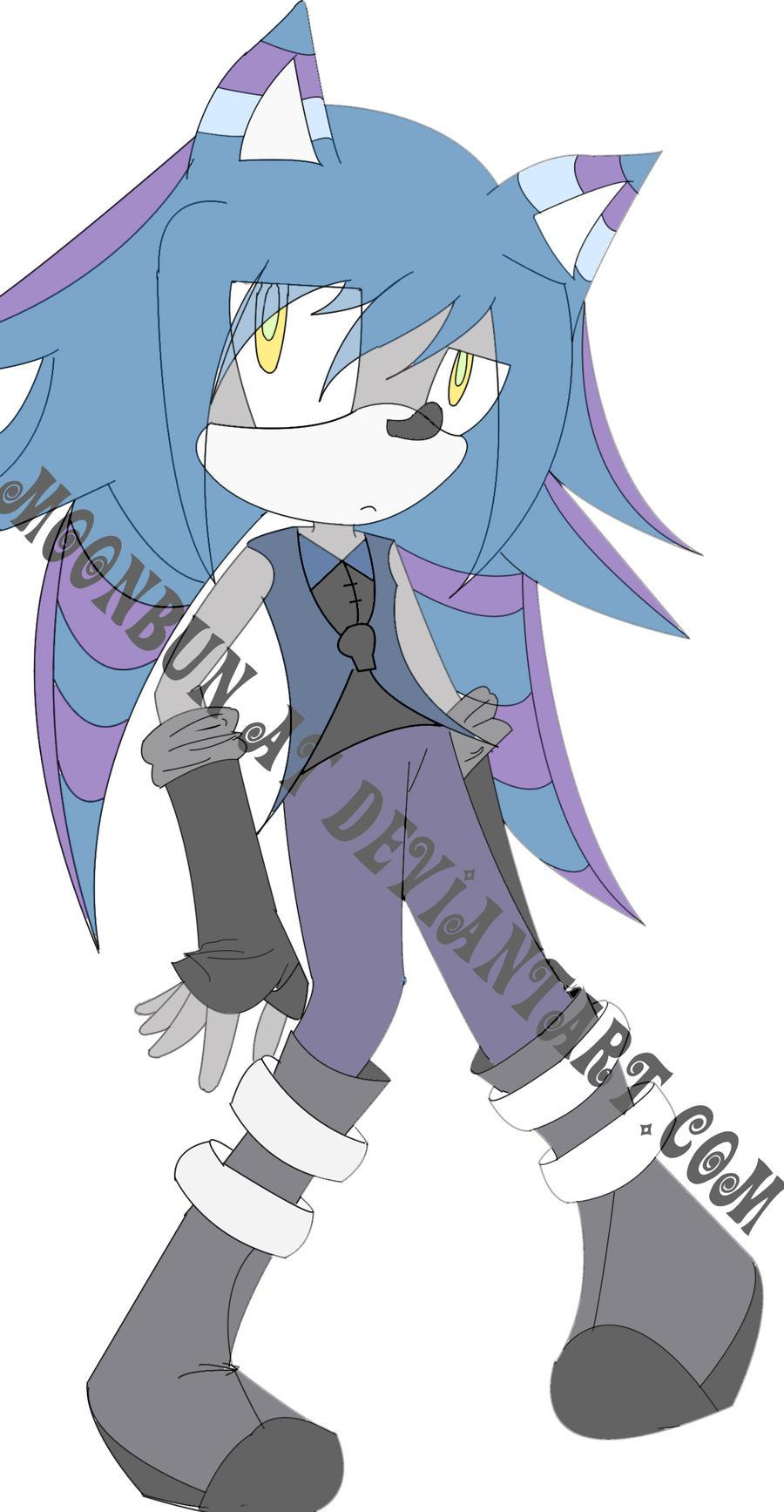 Riot The Hedgehog Base Colors by MoonBun