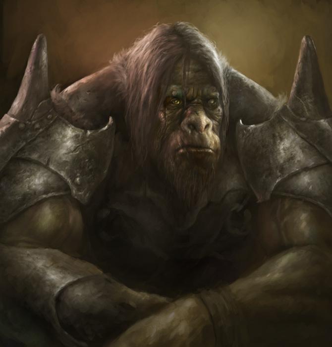 Ogre Sitting by vshen