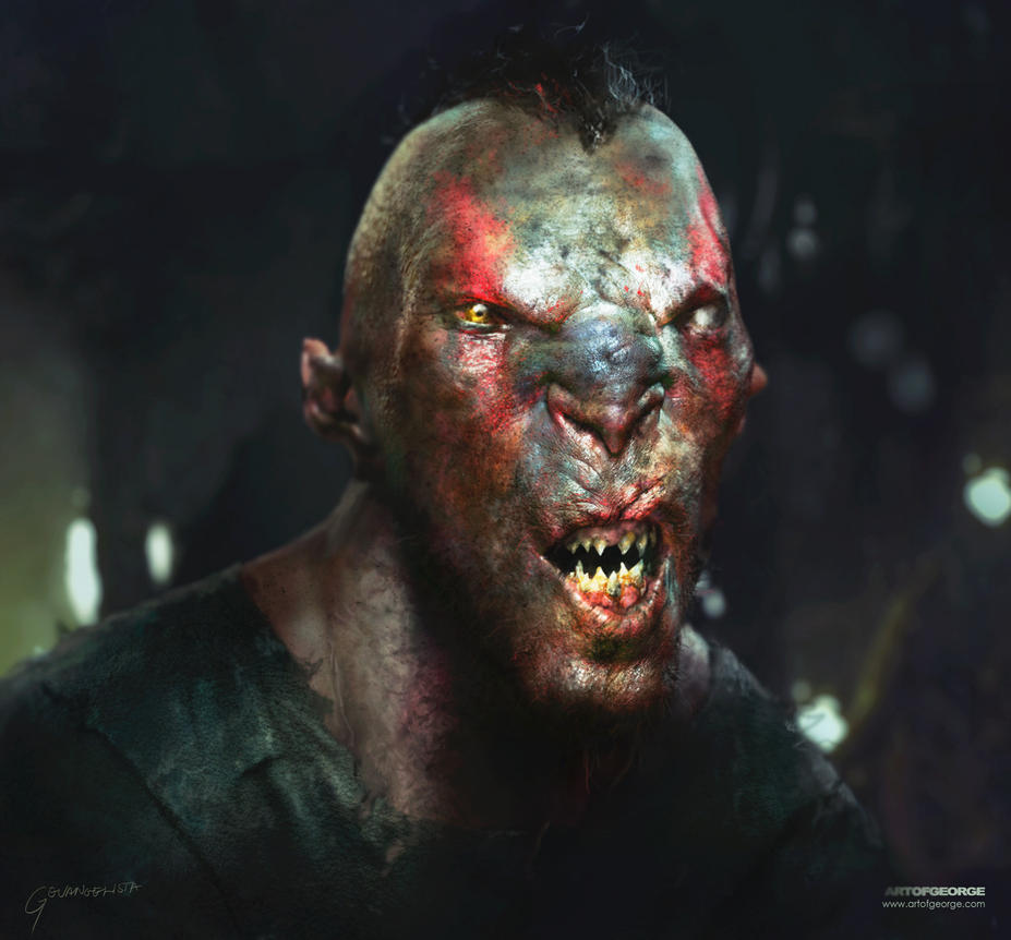 Orc Head Design by vshen