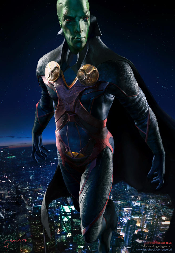 Benedict Cumberbatch-as-Martian Manhunter-from-DC- by vshen