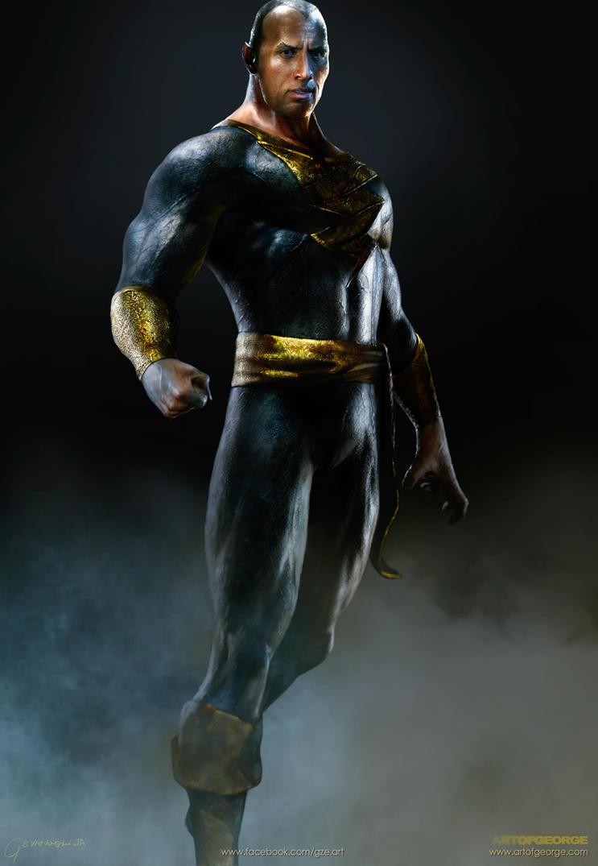 Dwayne-Johnson-aka-The-Rock-as-Black-Adam-DC-Shaza by vshen