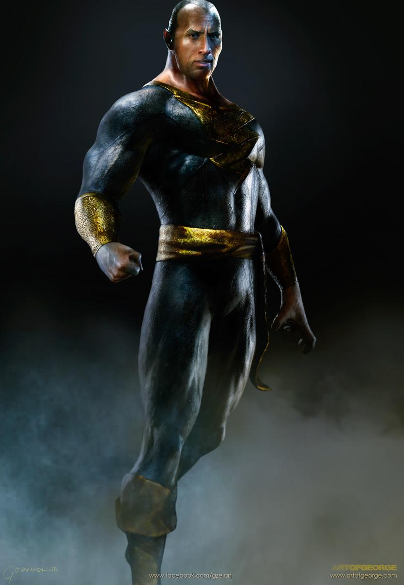 Dwayne Johnson Aka The Rock As Black Adam