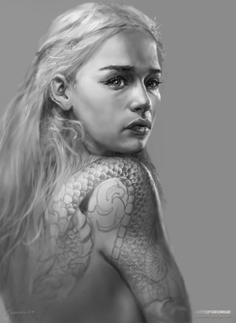 Daenerys Sketch by vshen