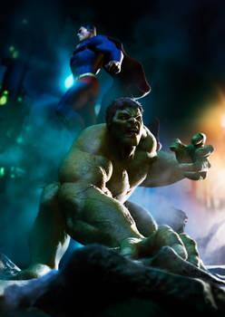 Superman and Hulk
