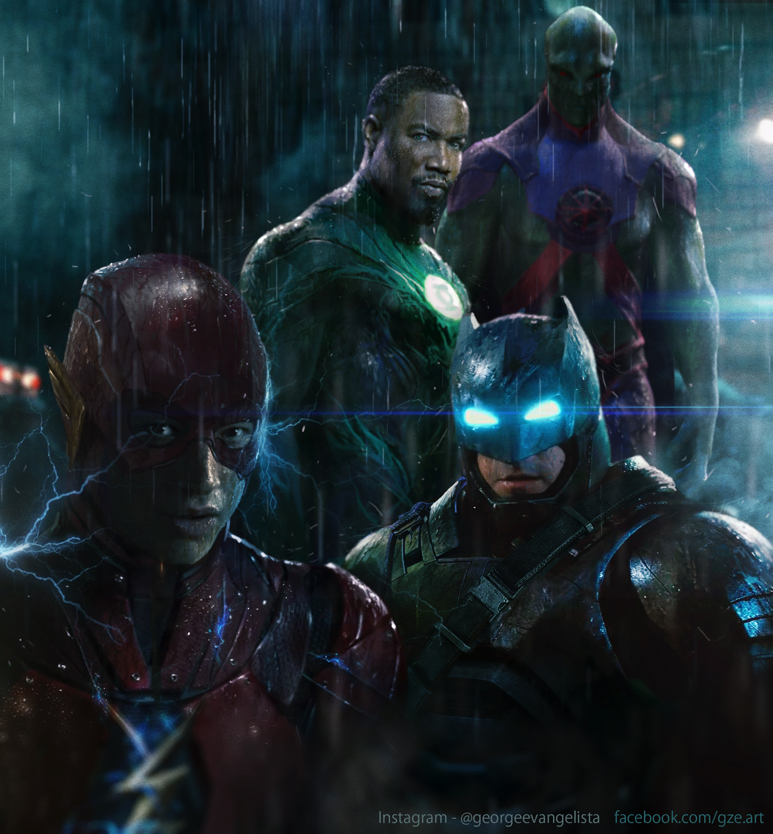 Flash Batman GL MM by vshen