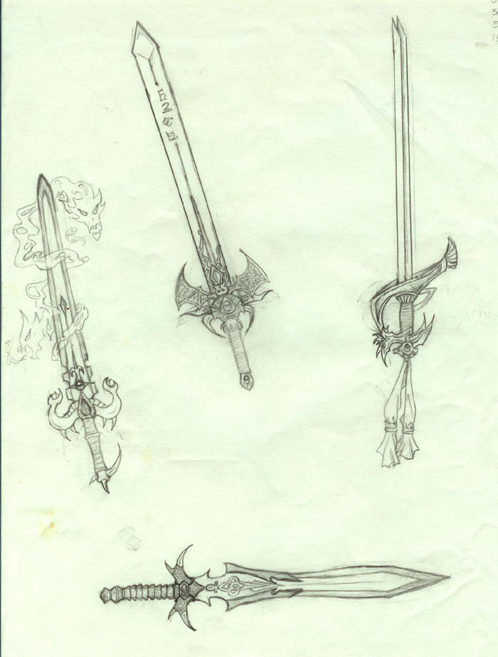 Swords in pencil by whyyy