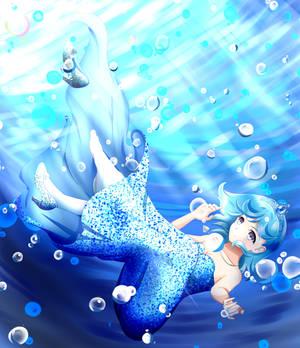 In the Deep Blue [+Speedpaint]