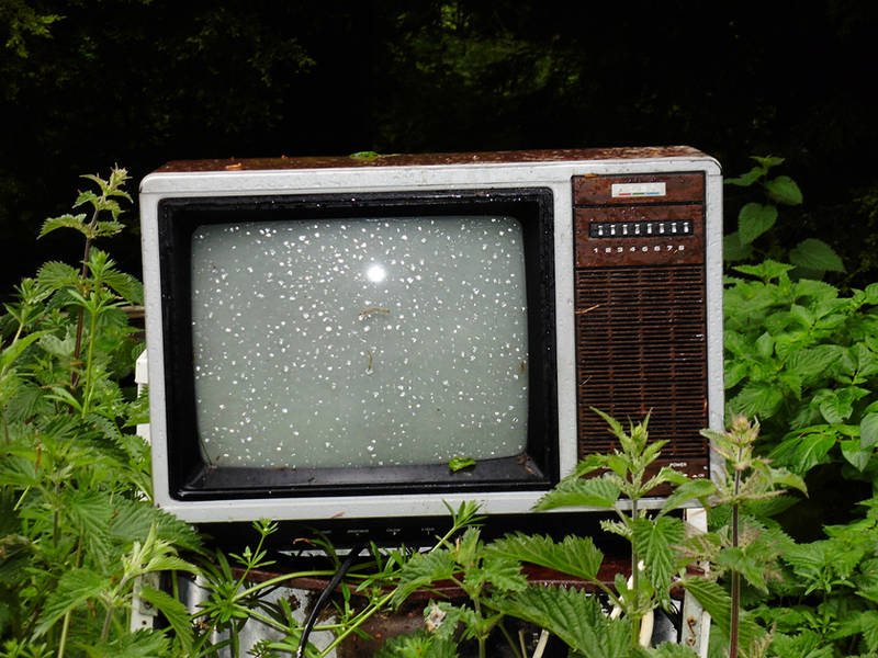 Old TV Set - Outside by Its-Only-Stock