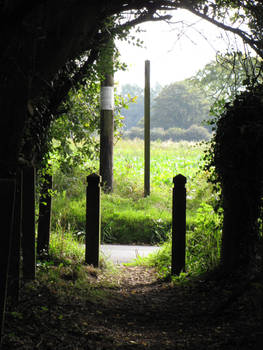 nature arch and posts