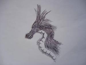 Black dragon's head