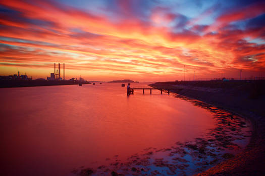Sunset at Ijmuiden, NL
