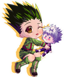 Gon and Killua by Myuchiisu