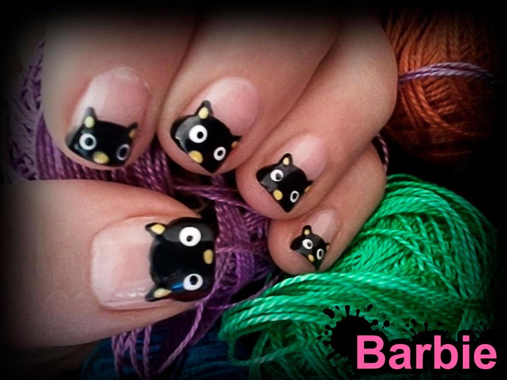Black Cat Nails by BarbieNailArt