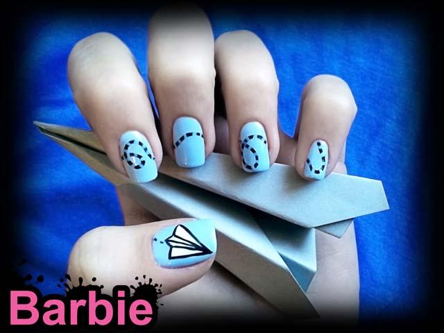 Paper Airplane Nails By Barbienailart On Deviantart