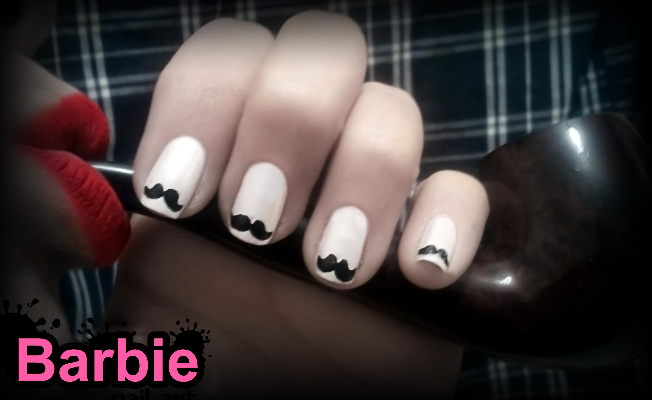 Mustache Nails By Barbienailart On Deviantart