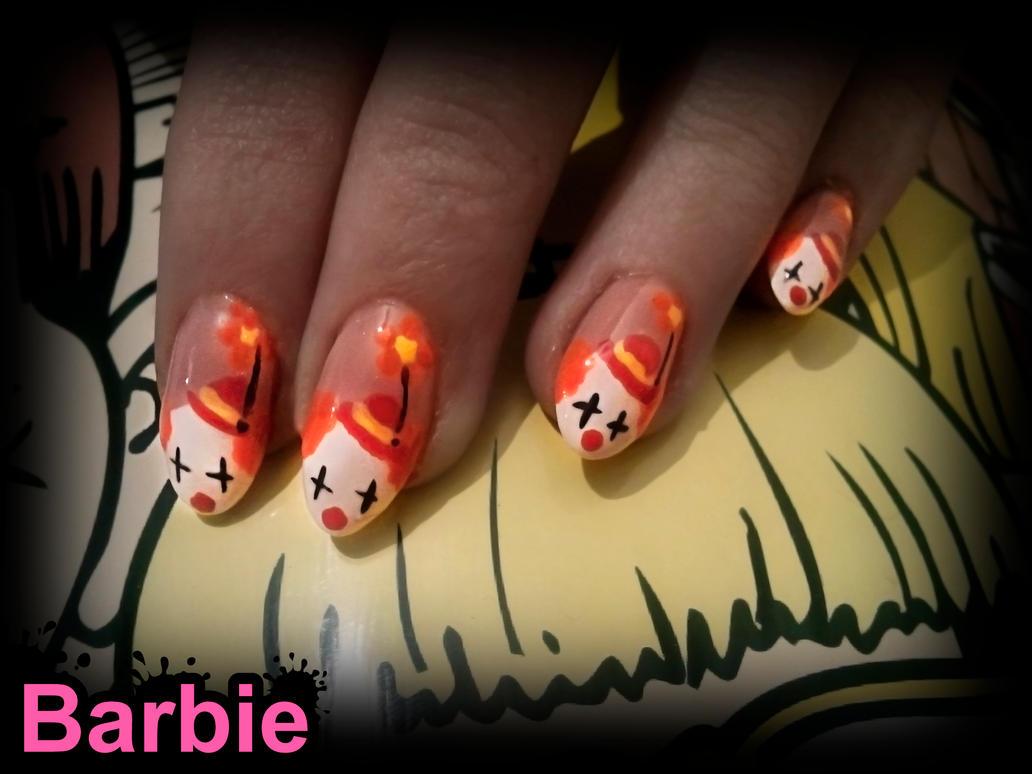 Clown Nails by BarbieNailArt on DeviantArt