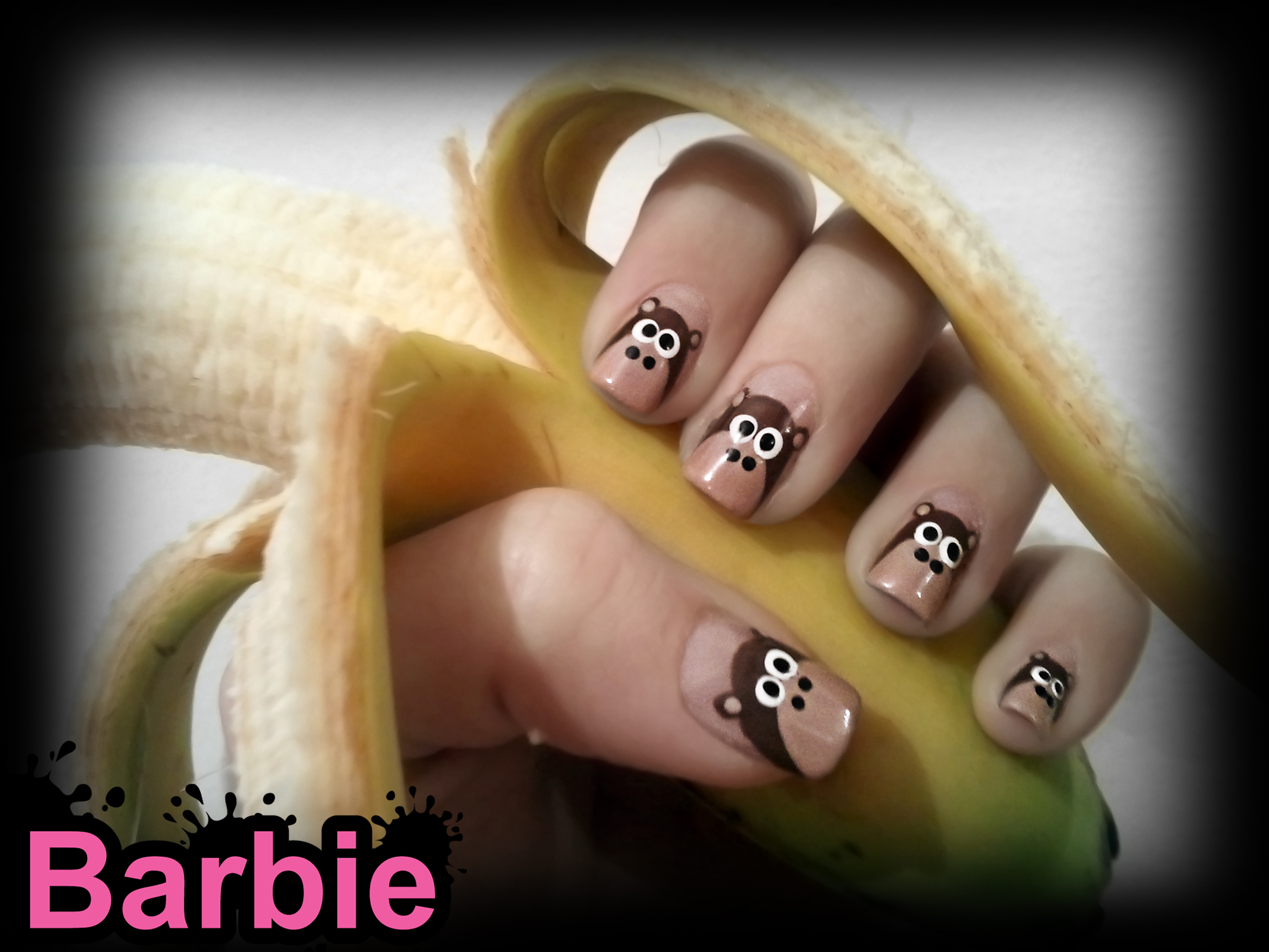 Monkey Nails by BarbieNailArt on DeviantArt