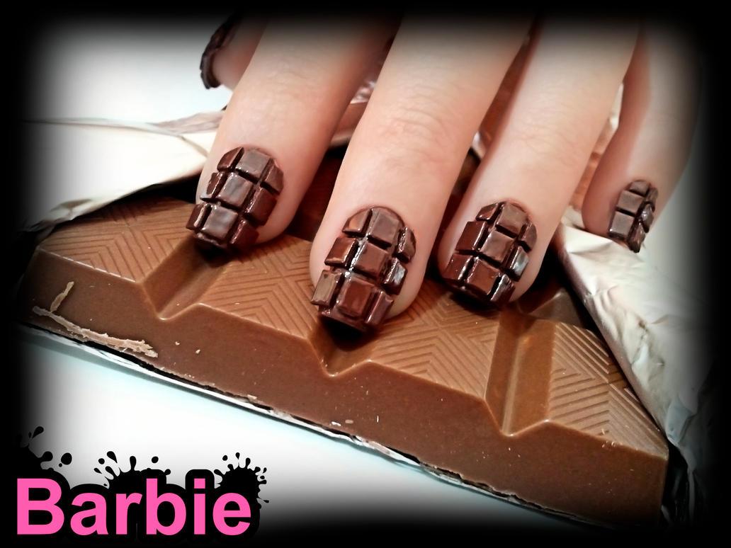 Chocolate Nails By Barbienailart On Deviantart