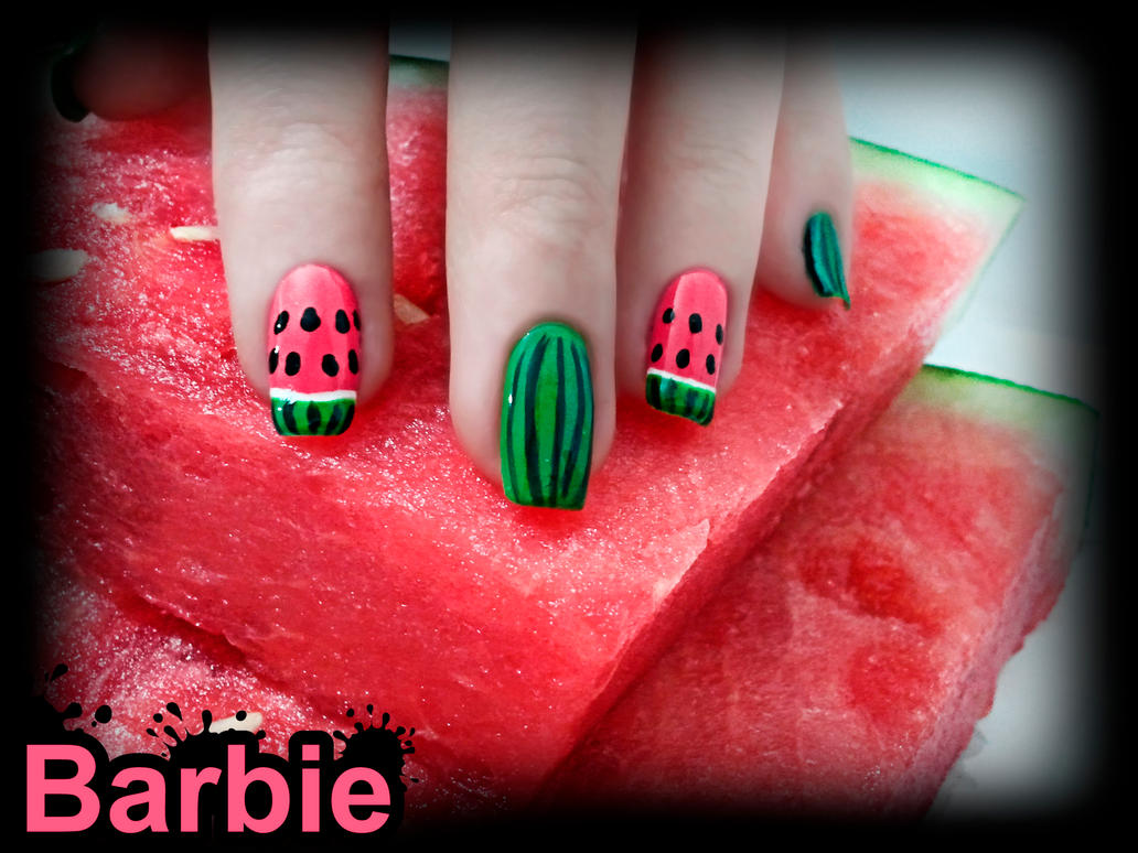 Watermelon Nails by BarbieNailArt on DeviantArt