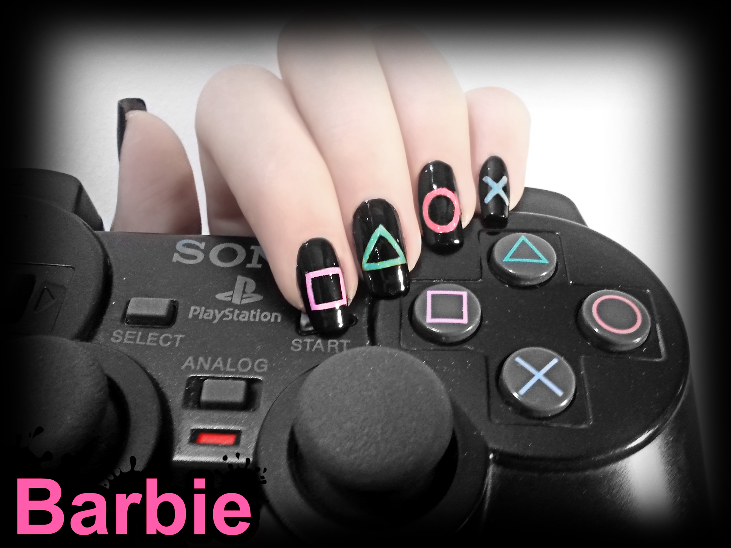 Playstation Nails by BarbieNailArt on DeviantArt