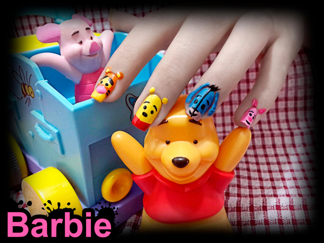 Winnie The Pooh Nails By Barbienailart On Deviantart