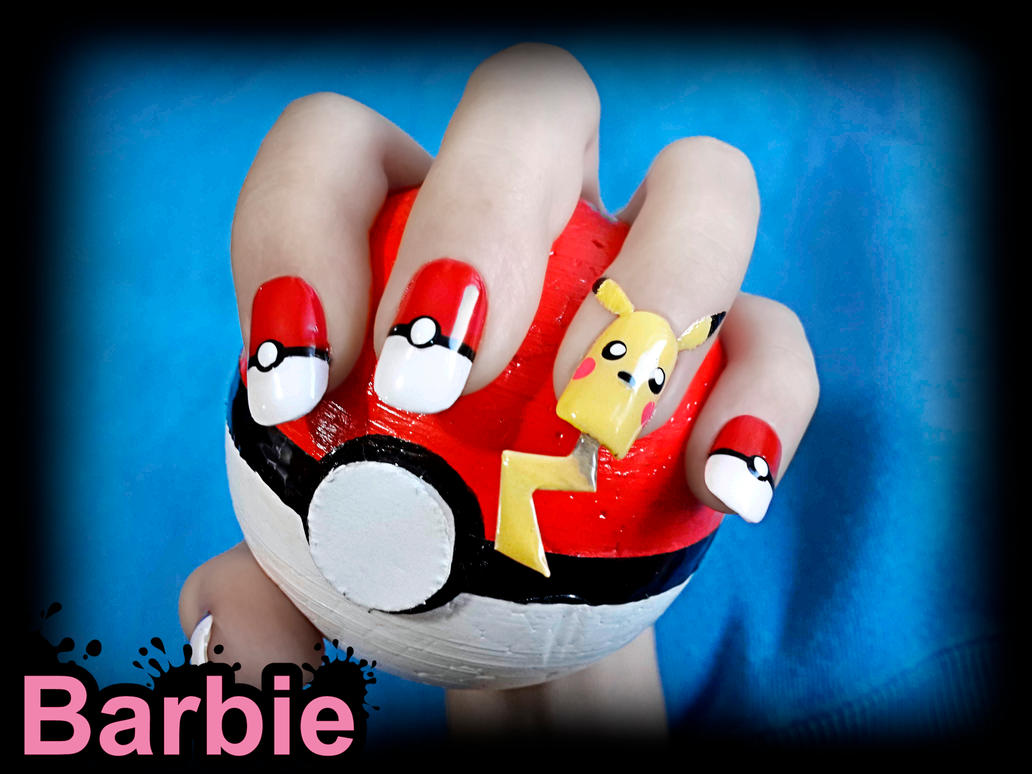 Pikachu Nail Design