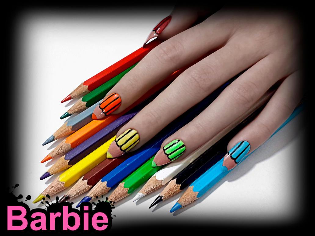 Colored Pencils Nails by BarbieNailArt on DeviantArt