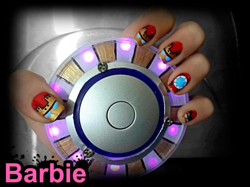 Iron Man Nails by BarbieNailArt on DeviantArt