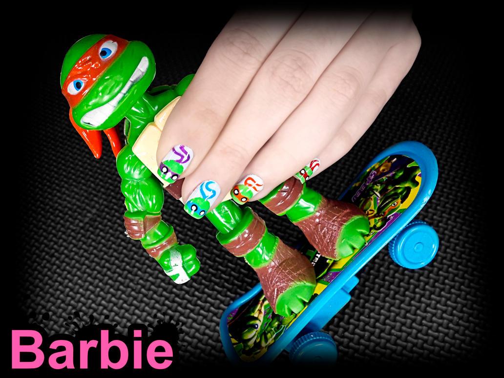 TMNT Nails by BarbieNailArt on DeviantArt