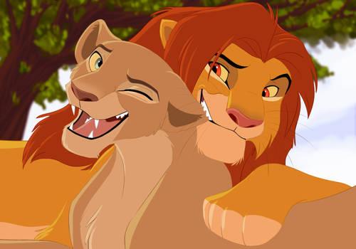 [YCH] Simba and Nala by SickRogue