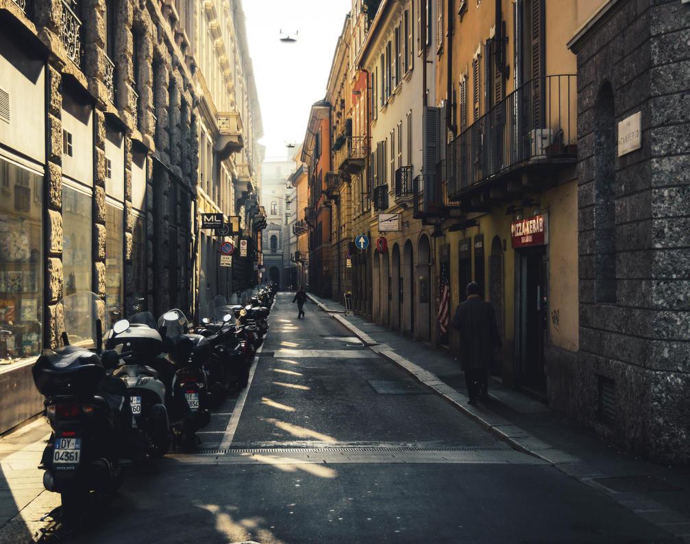 Streets of Milan by L0R1N