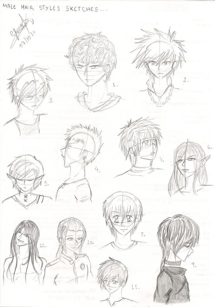 Аниме прически для парней с длинными волосами