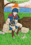Ike, resting a little... - colored