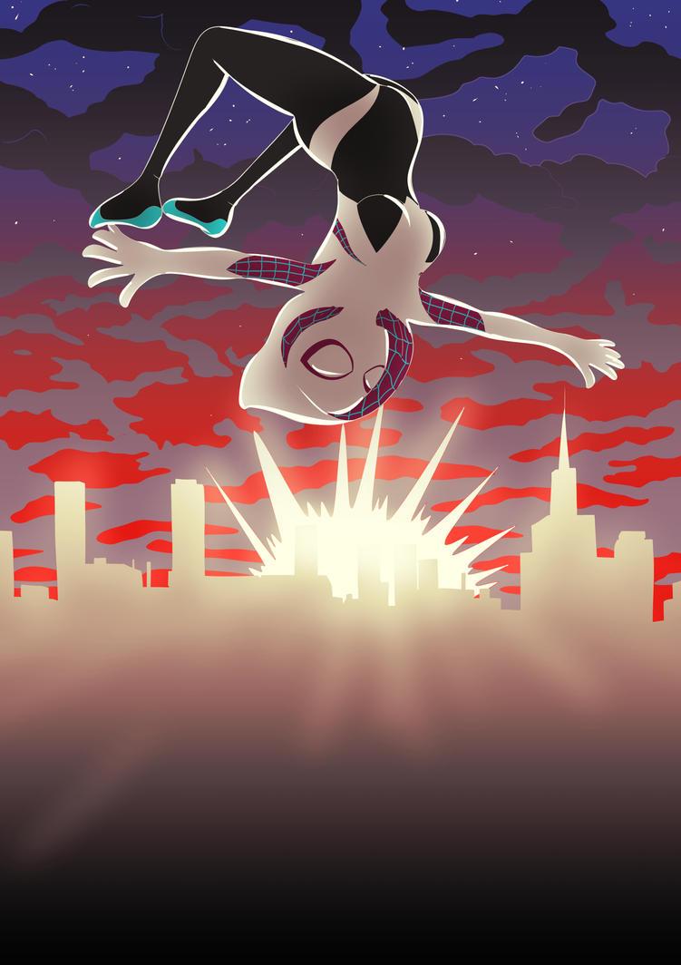 Spider Gwen by Jikasan