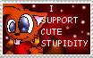 I SUPPORT CUTE STUPIDITY by PrettyKitty13