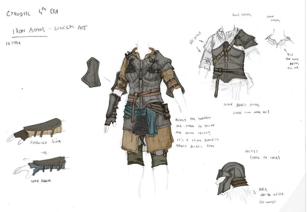 Cyrodiil 4th Era : Iron armor (female) by Galhaad
