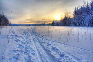 Ski path by PekkaHartikainen